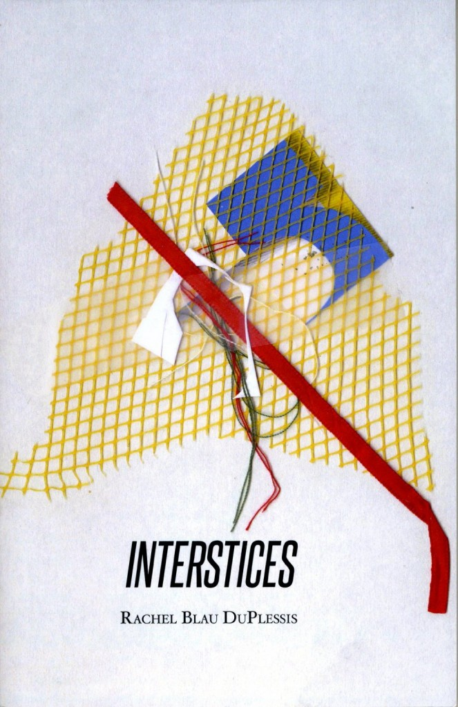 Book Cover for Interstices by Rachel Blau DuPlessis