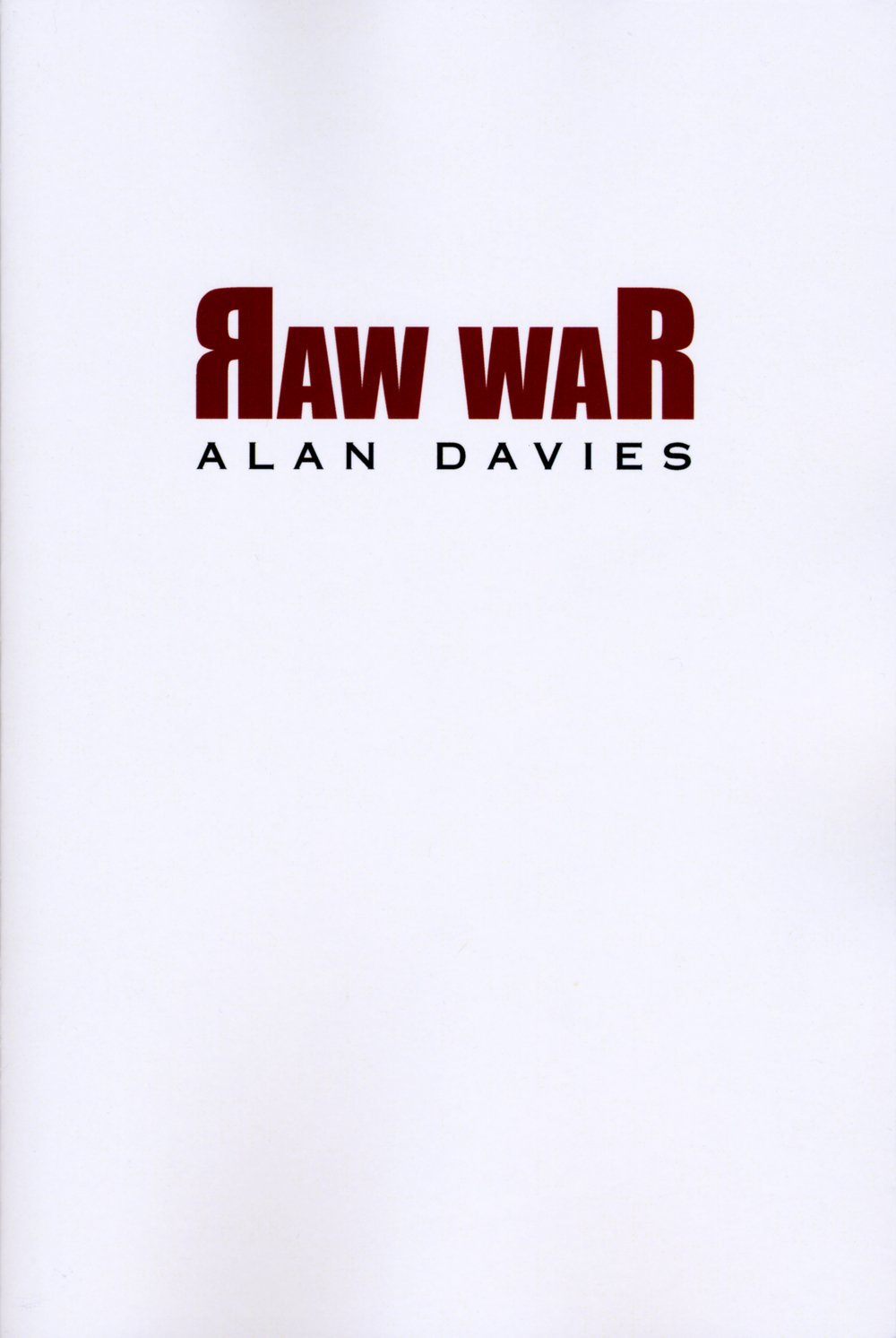 Raw War by Alan Davies